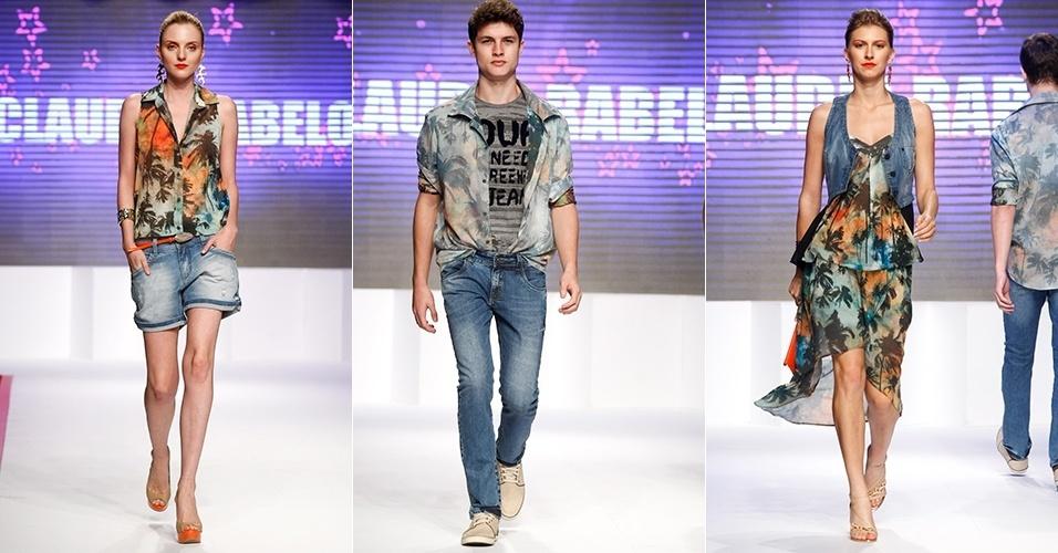 Looks de Claudia Rabelo para o Verão 2013 no Mega Polo Moda, em São Paulo (30/07/2012)