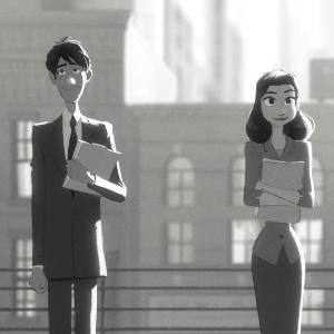 """Cena do curta-metragem """"Paperman"""", que concorre ao Oscar de Melhor Curta de Animação deste ano"""