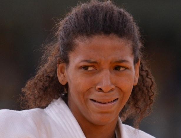 Rafaela Silva não conseguiu conter as lágrimas depois da desclassificação na segunda rodada da categoria até 57 kg