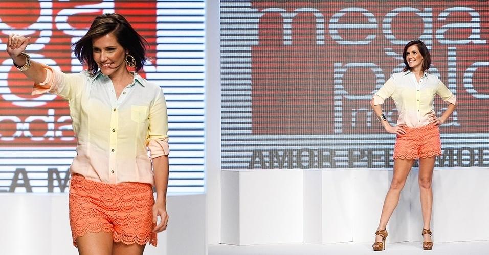 Deborah Secco retorna à passarela do Mega Polo Moda (31/07/2012)