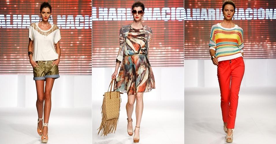 Looks da Malharia Nacional para o Verão 2013 no Mega Polo Moda, em São Paulo (31/07/2012)
