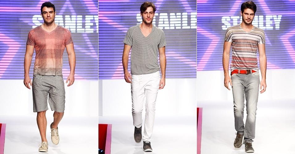 Looks da Stanley para o Verão 2013 no Mega Polo Moda, em São Paulo (31/07/2012)