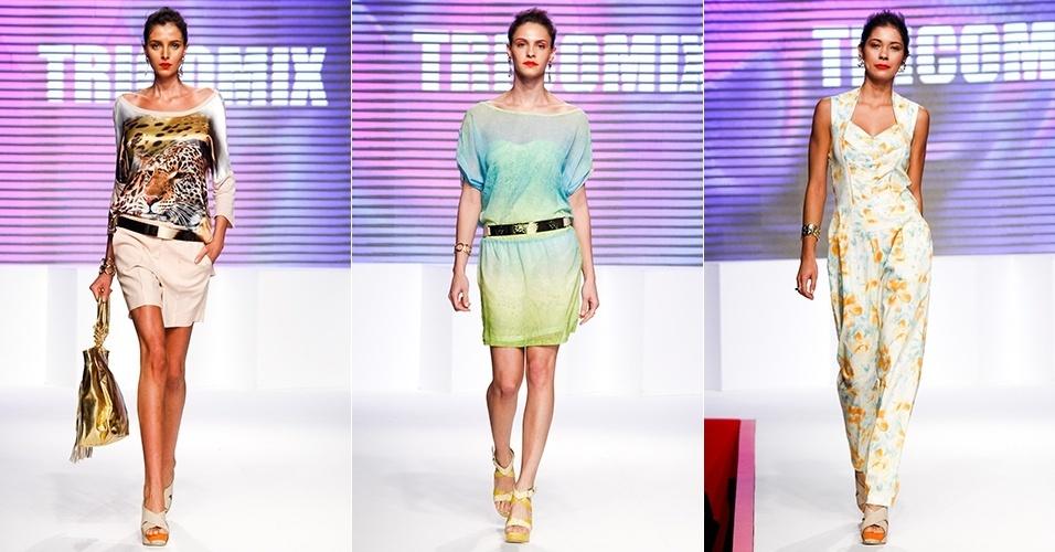 Looks da Tricomix para o Verão 2013 no Mega Polo Moda, em São Paulo (31/07/2012)