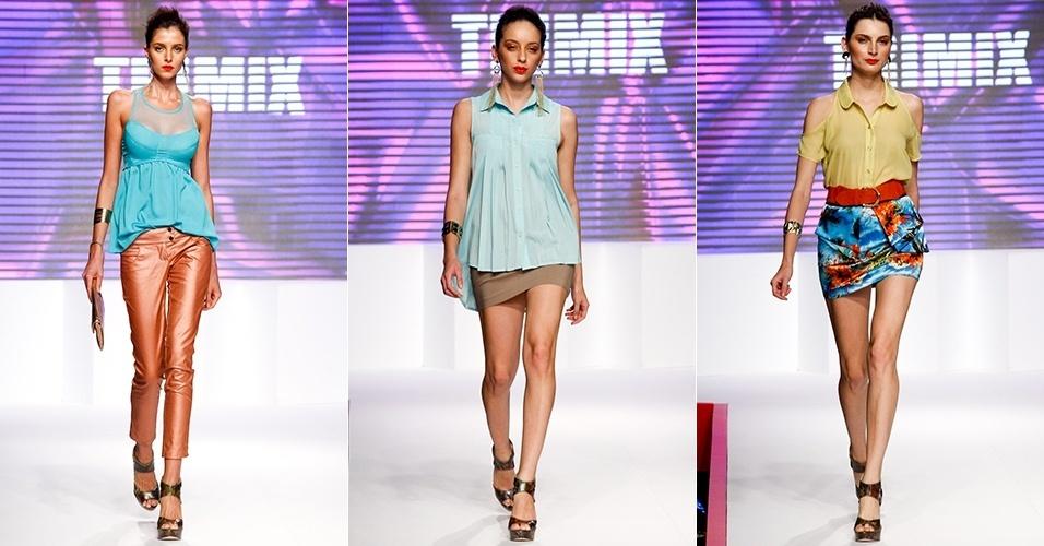 Looks da Trimix para o Verão 2013 no Mega Polo Moda, em São Paulo (31/07/2012)