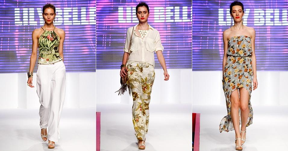 Looks de Lily Belle para o Verão 2013 no Mega Polo Moda, em São Paulo (31/07/2012)