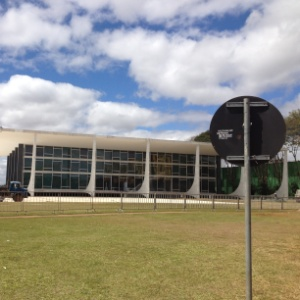 Imagem mostra os arredores do prédio do STF (Supremo Tribunal Federal), em Brasília, em 2012