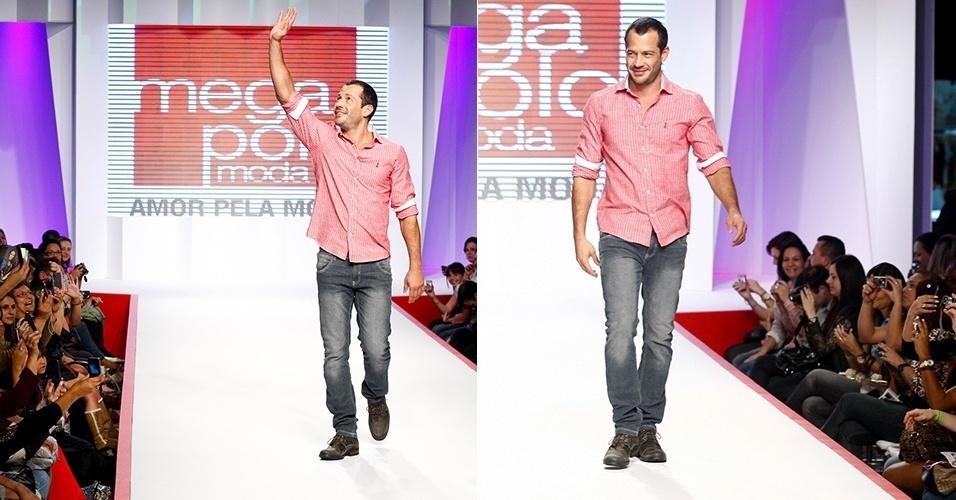 Malvino Salvador desfila no Mega Polo Moda, em São Paulo (1º/08/2012)