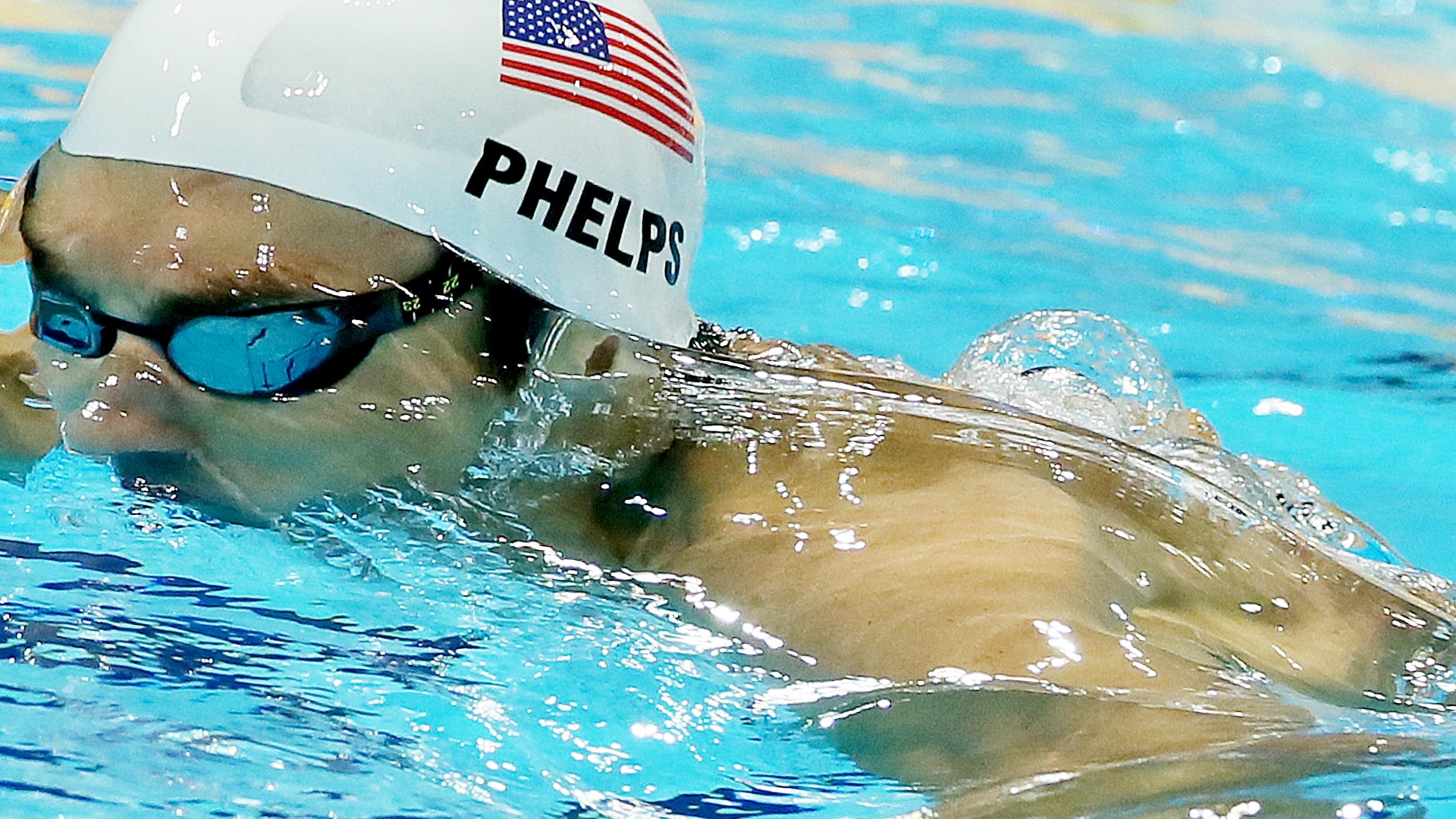 Michael Phelps terminou em segundo lugar na sua bateria dos 200 m medley nesta quarta-feira em Londres