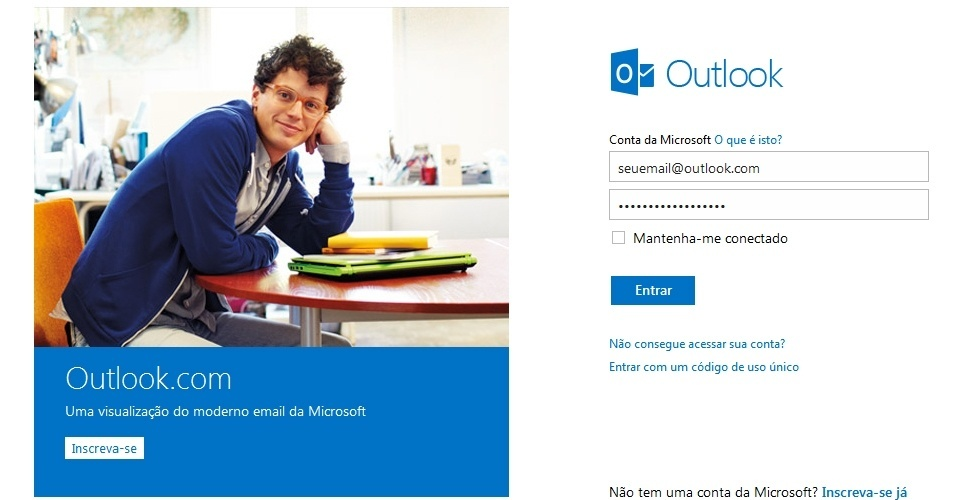 Como configurar o Outlook.com no e-mail do Android