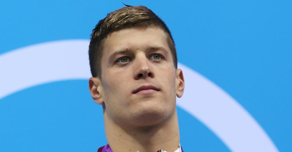 Daniel Gyurta, atleta da natação da Hungria medalhista de ouro na prova dos 200 m costas