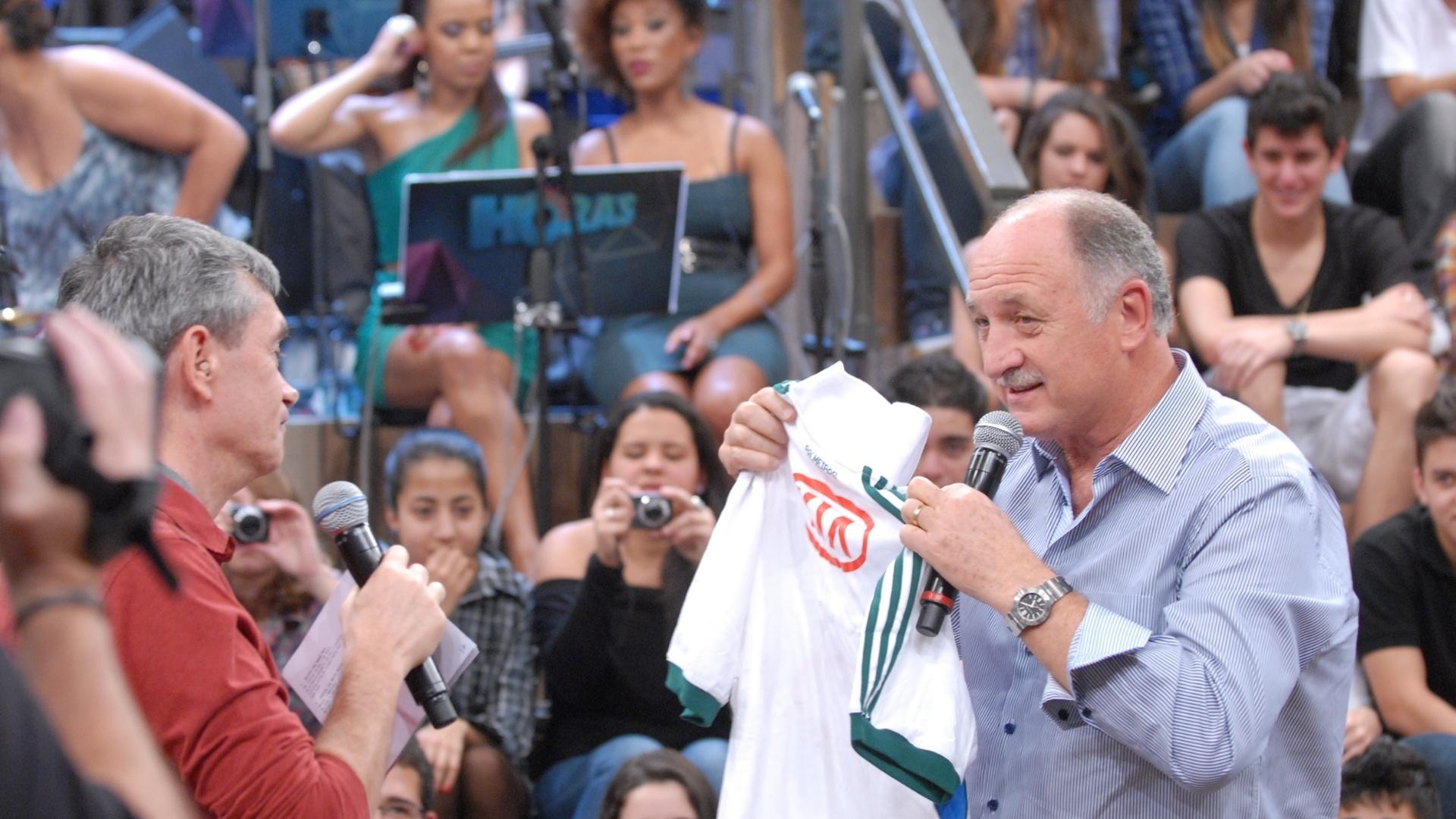 Felipão entregou camisa do Palmeiras para Serginho Groismann