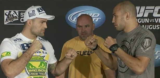 Maurcio Shogun e Brandon Vera do a 'encarada' na coletiva de imprensa do UFC on FOX 4