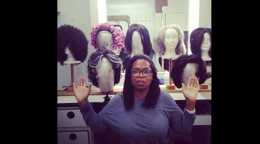 """Oprah Winfrey divulgou imagem nos bastidores do filme """"The Butler"""" dirigido por Lee Daniels (1/8/12)"""