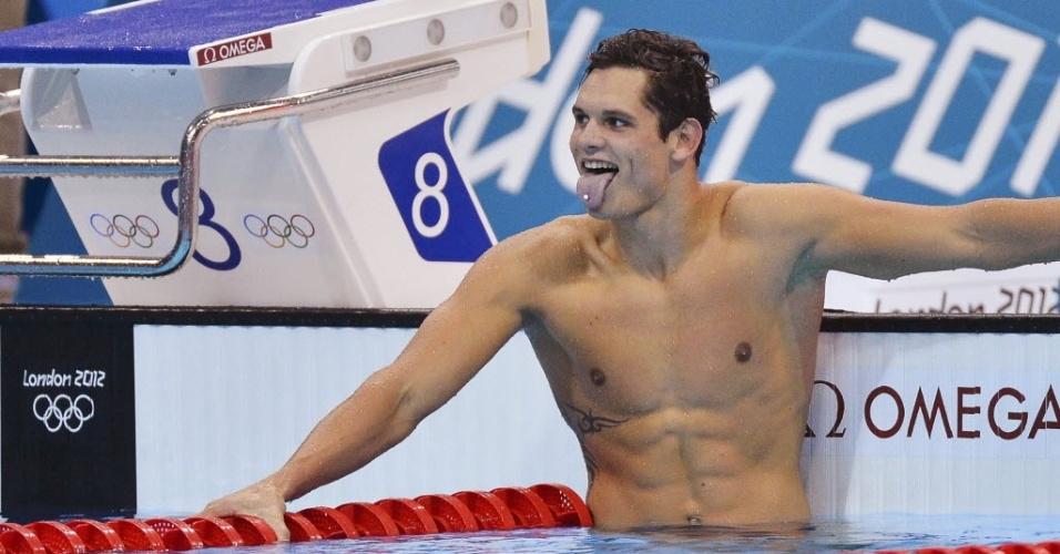 Alogz de Cielo nos 50 m, Florent Manaudou comemora medalha de ouro em Londres