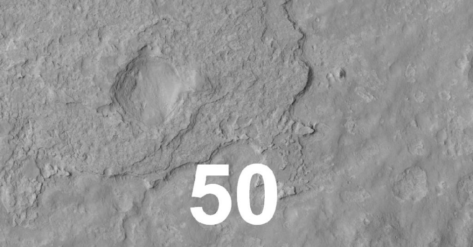 Close da regi&#227;o de pouso do rob&#244; Curiosity em Marte