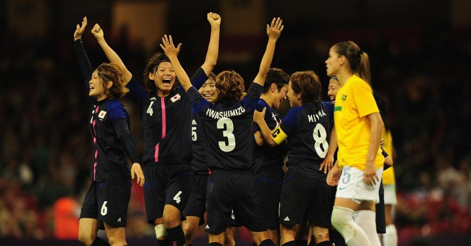 Japonesas celebram classificação para a semifinal dos Jogos de Londres