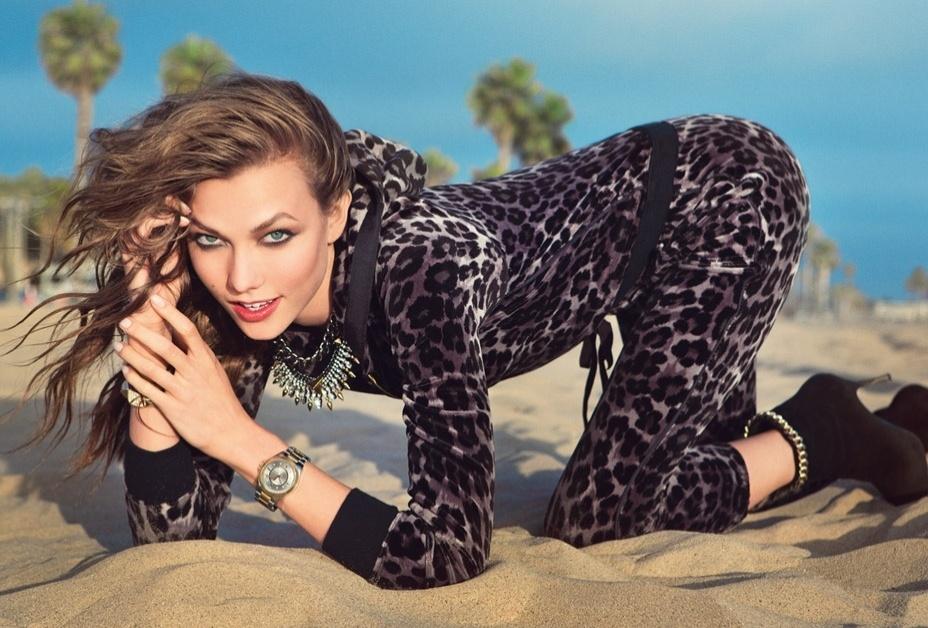 Karlie Kloss em campanha da Juicy Couture para o Inverno 2012