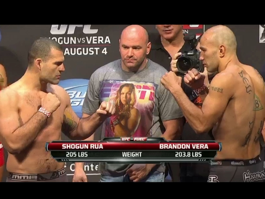 Maurcio Shogun e Brandon Vera do a 'encarada' na pesagem do UFC on FOX 4