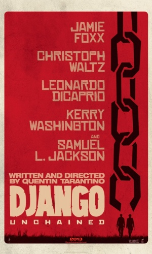 "Pôster internacional de ""Django Livre"", longa de Quentin Tarantino"