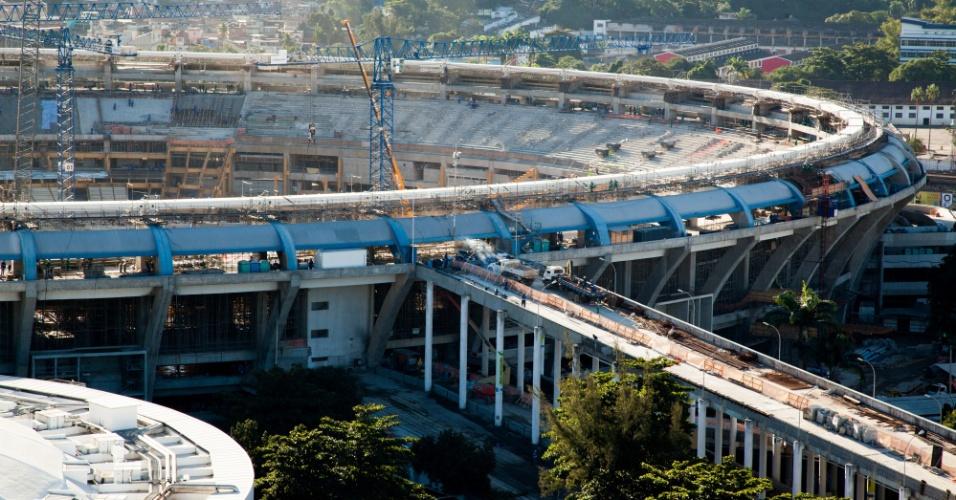 A última medição oficial realizada no Maracanã, feita em 30 de junho de 2012, registrou avanço físico de 59% na reforma do estádio