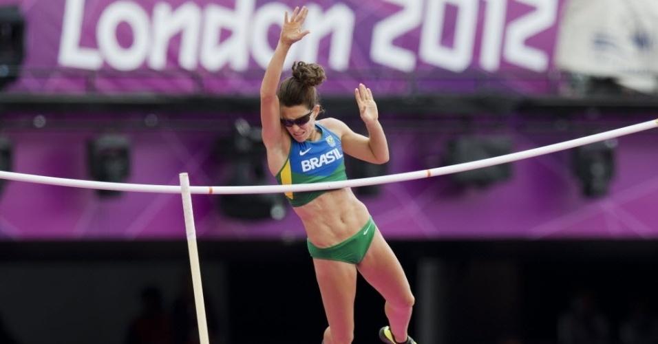 Fabiana Murer falha em tentativa de salto; brasileira ficou em 14º na eliminatória e não avançou à final