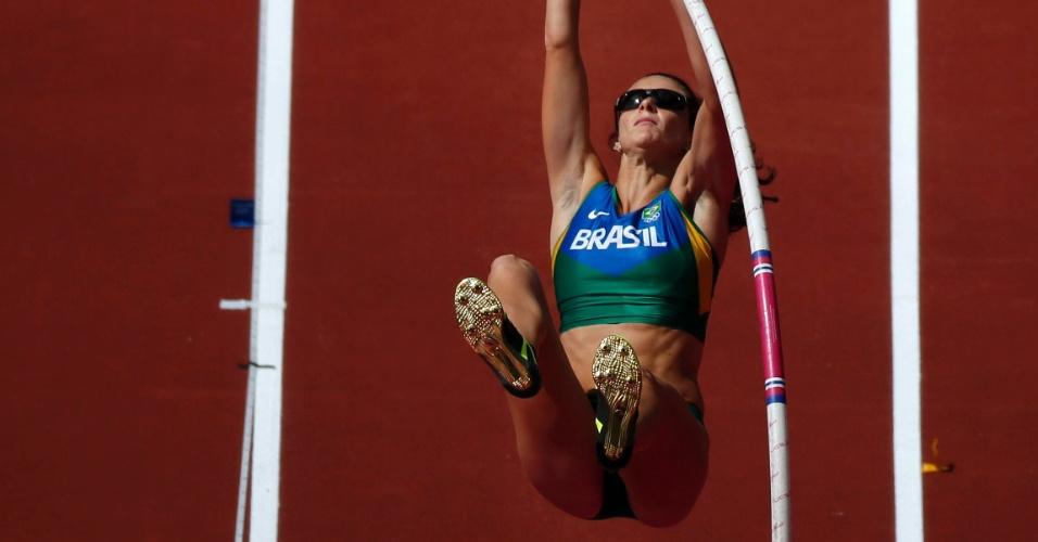 Fabiana Murer faz tentativa em eliminatória do salto com vara nos Jogos Olímpicos