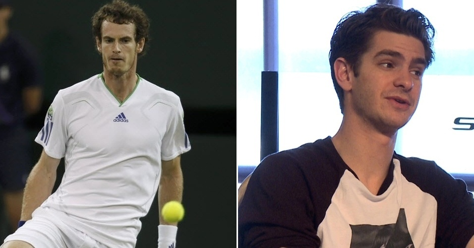 O s&#243;sia de Andy Murray &#233; o &#34;Homem Aranha&#34; Andrew Garfield