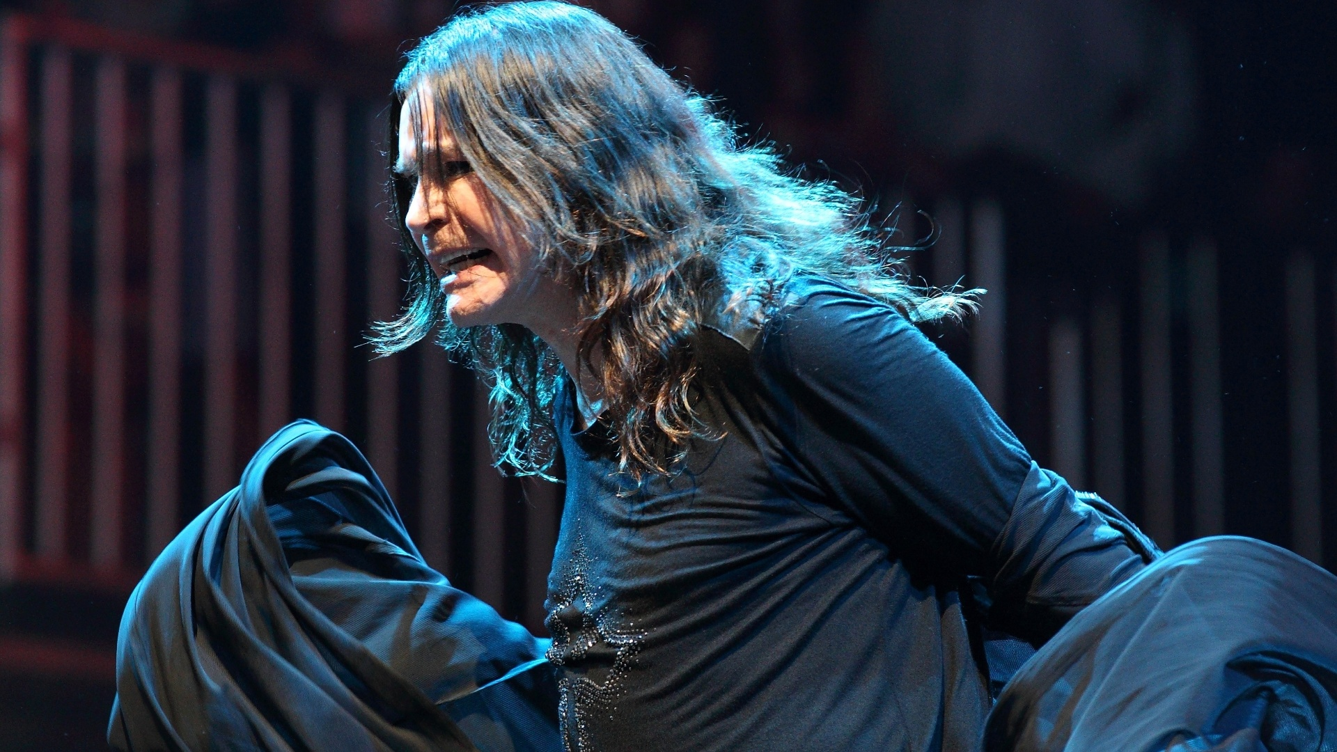 Ozzy Osbourne se apresenta com o Black Sabbath no Lollapalooza. A banda foi a atrao principal do primeiro dia do festival (3/8/12) 
