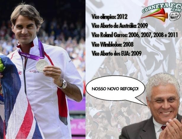 Corneta FC: Roger Federer completa Silver Slam e é novo reforço do Vasco