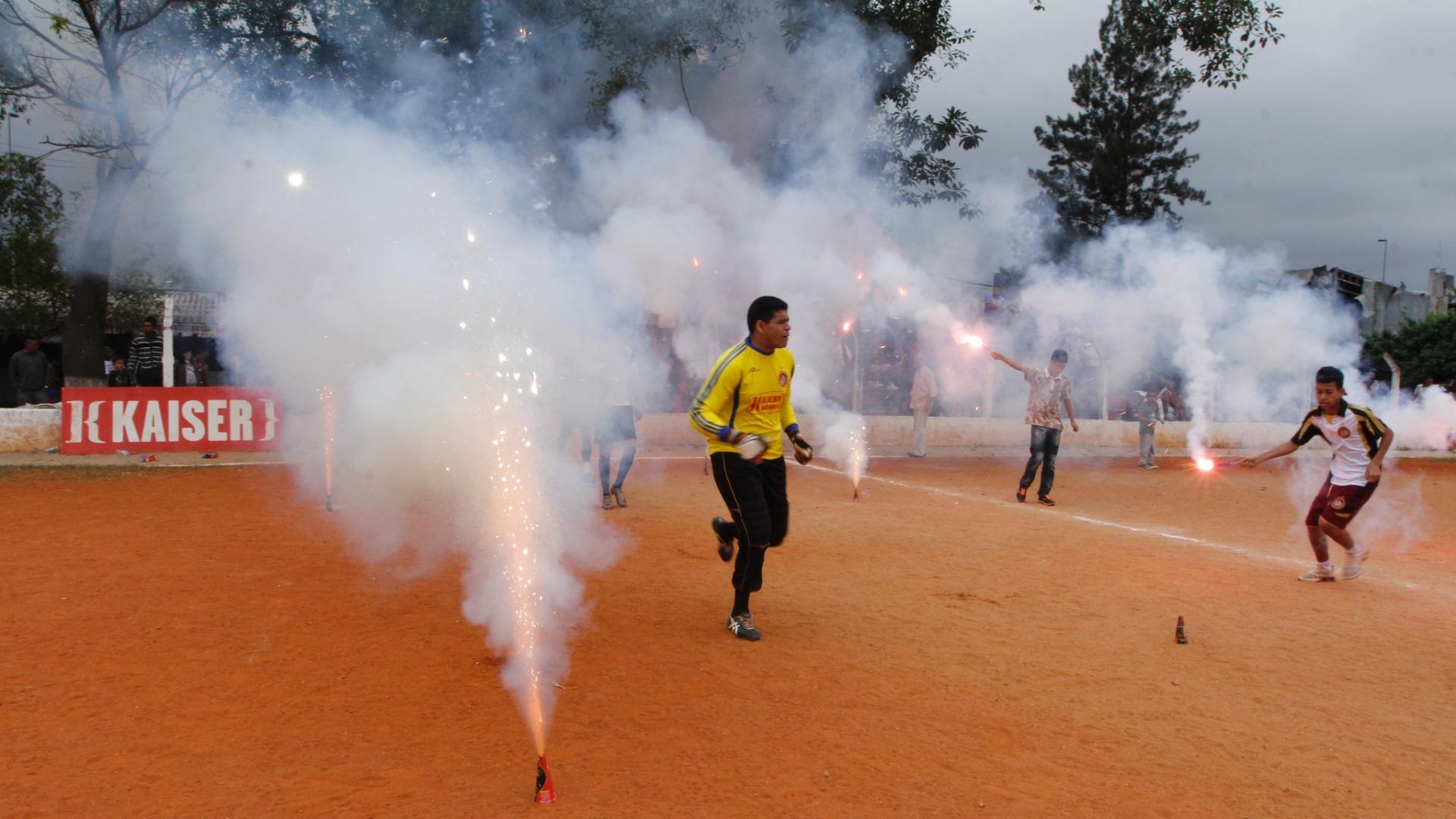 Bela festa da torcida do Juventus da Liberdade inspirou o time antes da partida contra o Jaçanã