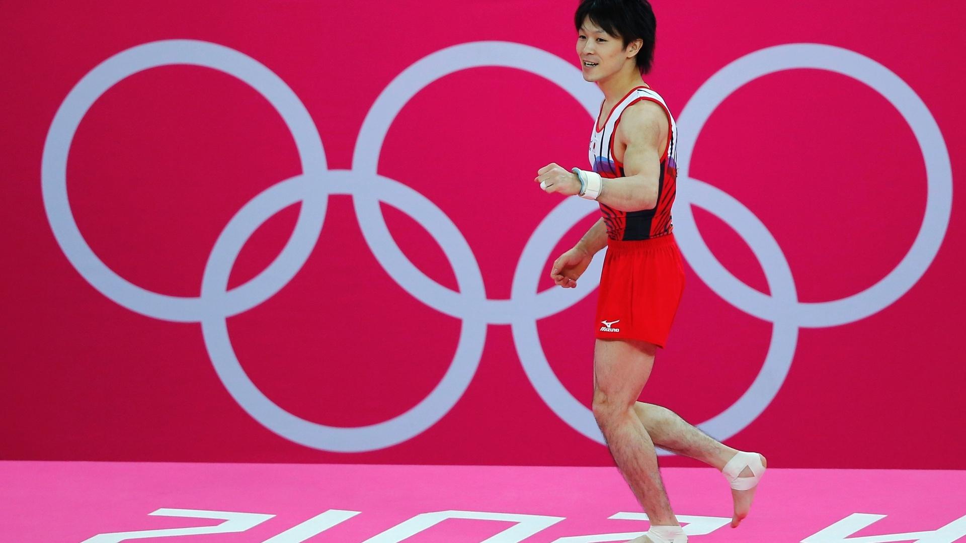 Kohei Uchimura sai otimista de sua apresentação no solo; ginasta japonês ficou com a prata na final do aparelho