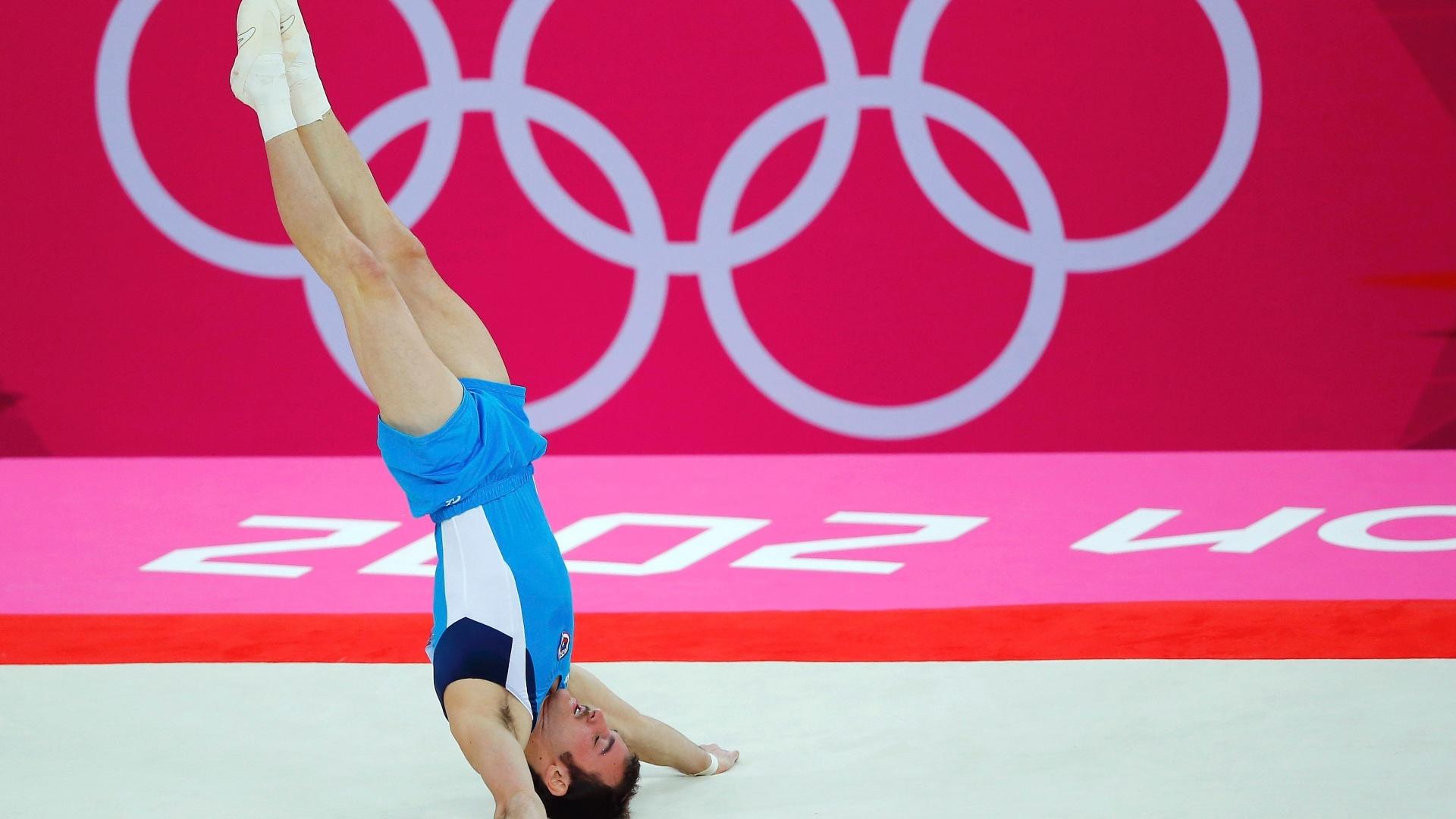 Único sul-americano na final de solo da ginástica artística, Tomas Gonzalez Sepulveda ficou em quarto lugar na disputa deste domingo