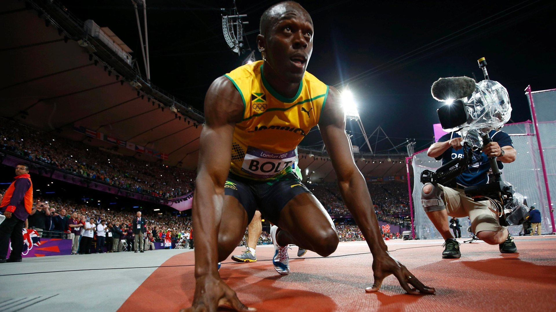 Usain Bolt prepara-se para disputar final olmpica dos 100 m rasos