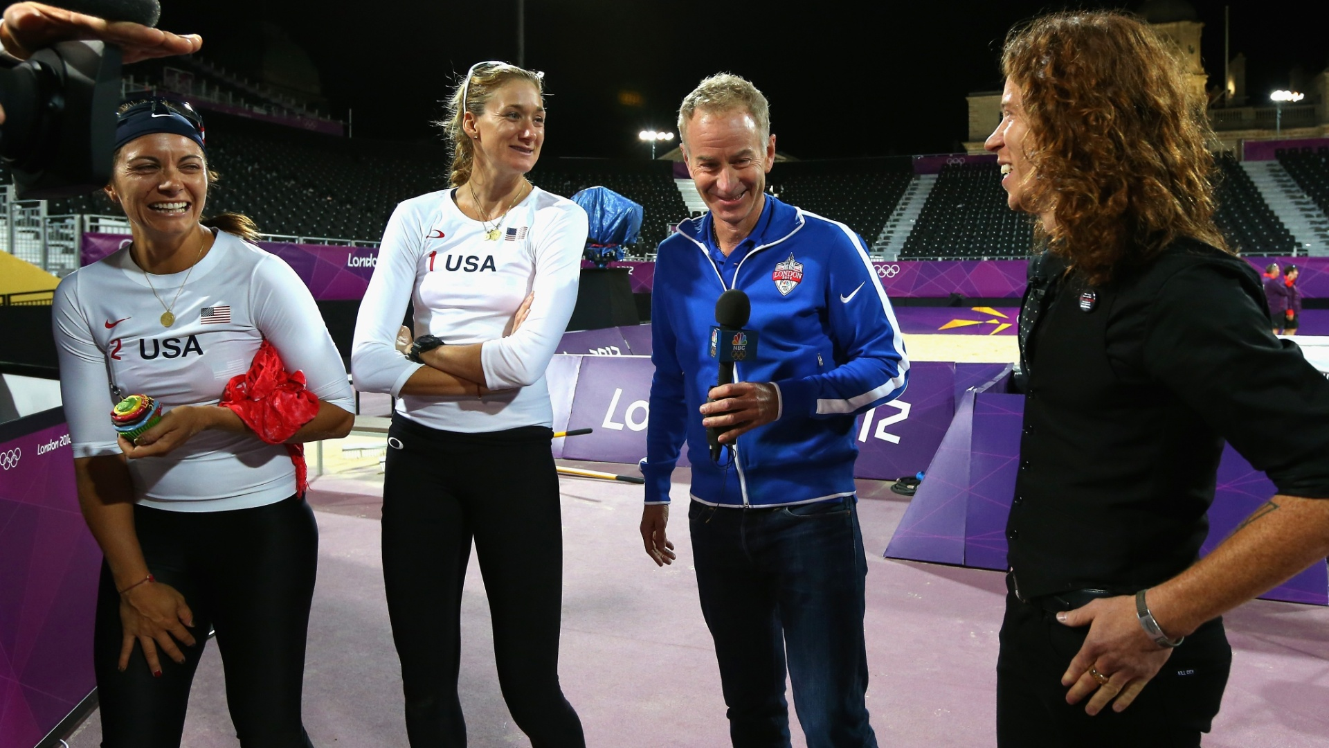 John McEnroe e Shaun White entrevistam a dupla do vôlei de praia Kerri Walsh e Misty May-Treanor