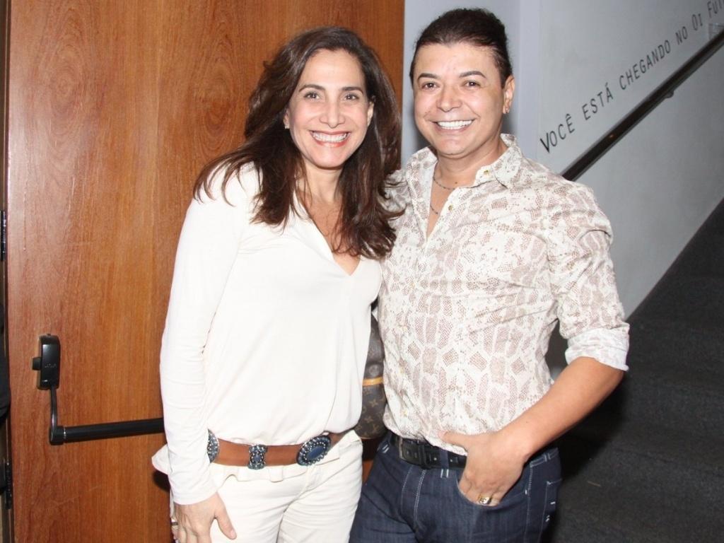 Totia Meireles e David Brazil foram a sessão de convidados da peça