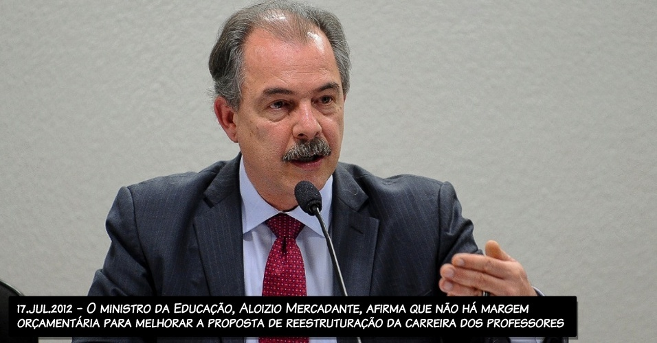 17.jul.2022 - O ministro da Educação, Aloizio Mercadante, afirma que não há margem orçamentária para melhorar a proposta de reestruturação da carreira dos professores