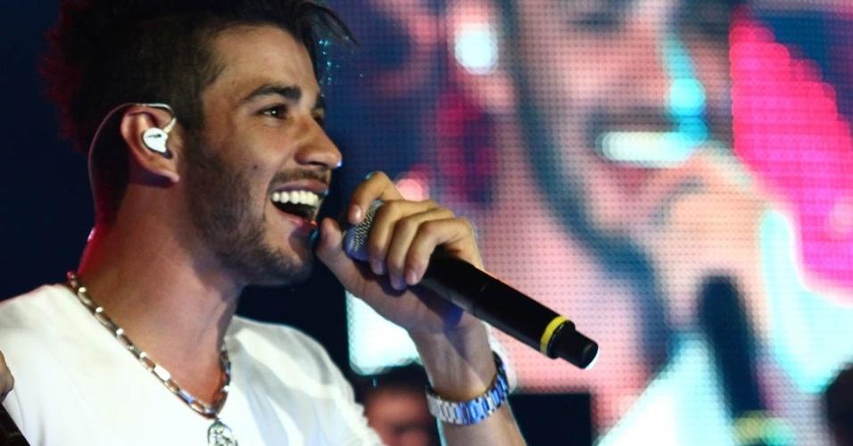Gusttavo Lima foi uma das atrações principais do show da gravação do DVD da dupla Henrique e Diego, em Campo Grande (7/8/12)