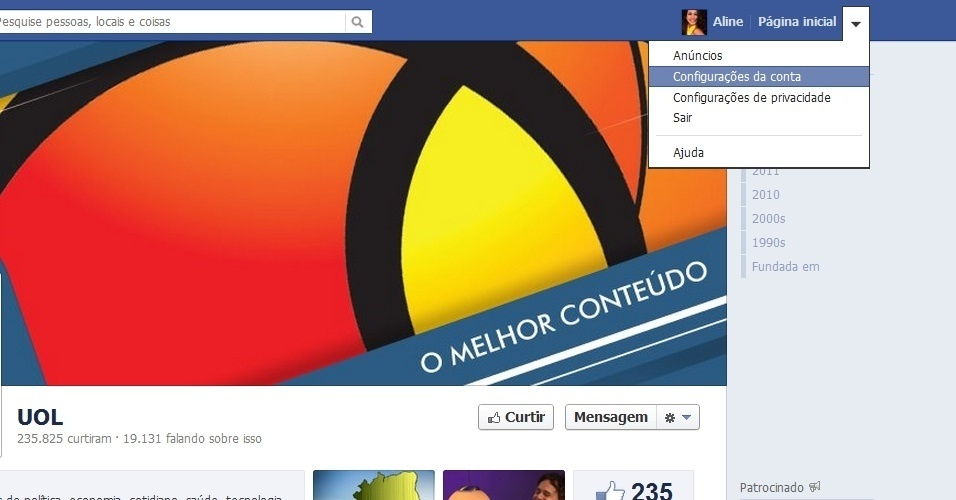 Saiba como fazer para mudar a senha do Facebook