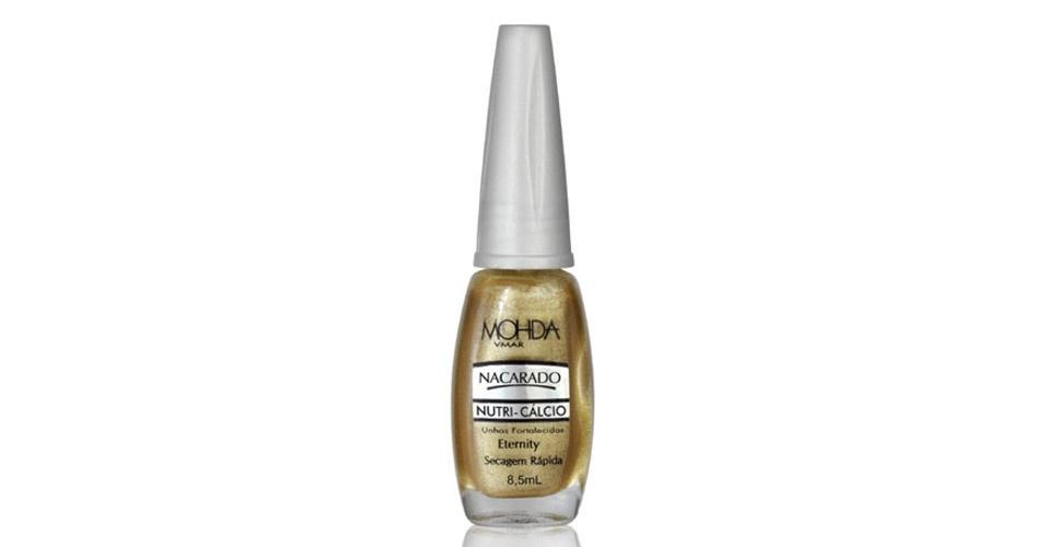 Sombra e esmalte dourado