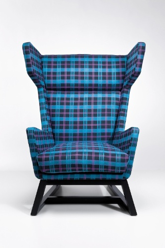 Wing Chair Checked - Kare
