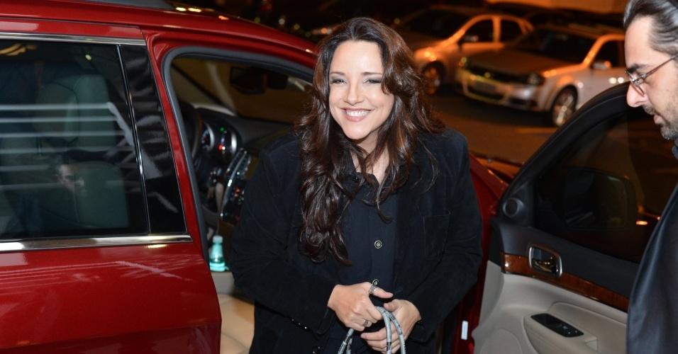 A cantora Ana Carolina prestigia o aniversário de Preta Gil na casa de shows Miranda, na zona sul do Rio (8/8/2012)