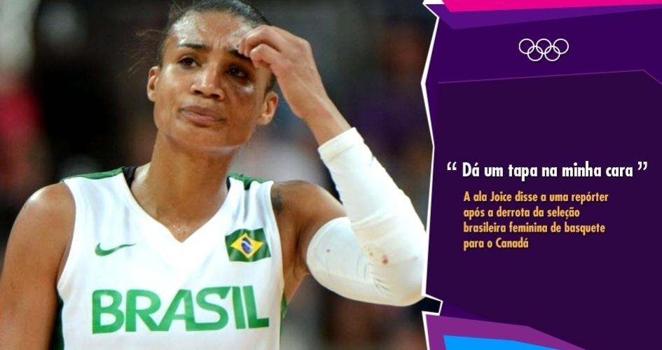 """""""Dá um tapa na minha cara"""" - A ala Joice após a derrota da seleção brasileira feminina de basquete para o Canadá"""