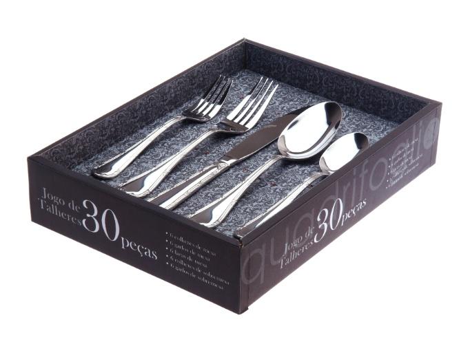 De aço inox, o faqueiro Renaissance tem 30 peças, em um design clássico. Por R$ 140, na Oren (www.oren.com.br). Preços pesquisados em julho de 2012 e sujeitos a alterações
