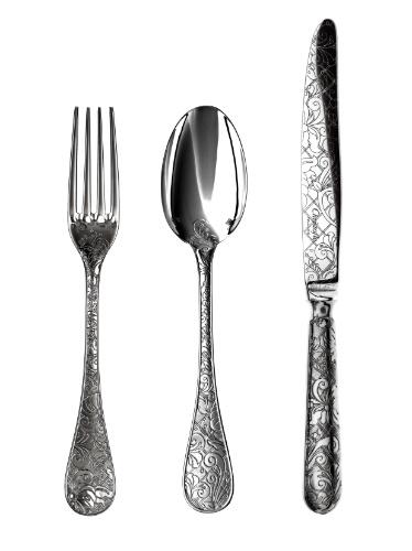 De origem francesa, o faqueiro Christofle Argenté com estojo é fabricado em prata. O conjunto com 48 peças pode ser comprado na Christofle Brasil (11 3864-4288) por R$ 9.900. Preços pesquisados em julho de 2012 e sujeitos a alterações