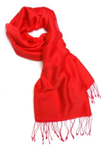 Lenço colorido; lenço vermelho; cachecol