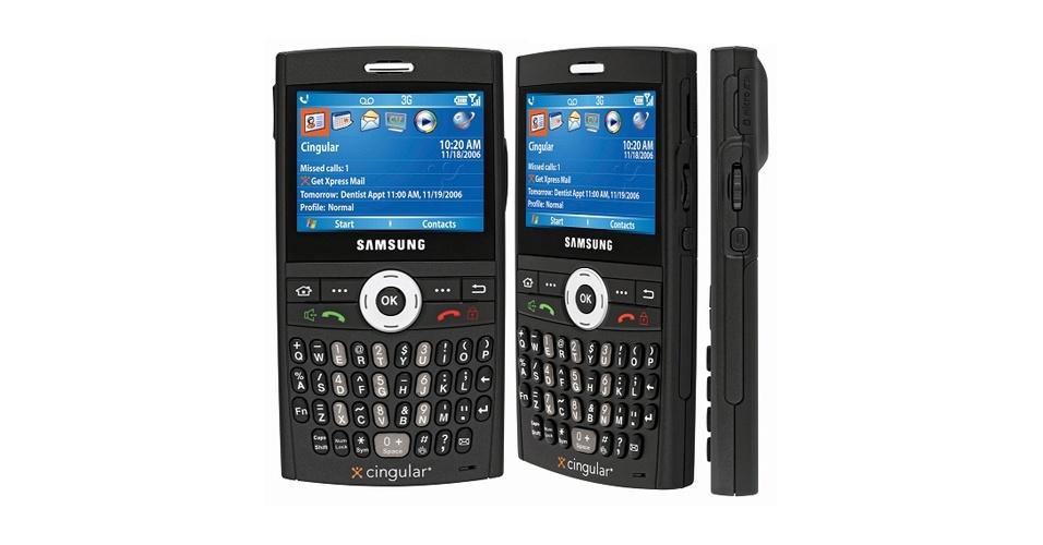 Samsung BlackJack tinha jeitão dos aparelhos BlackBerry
