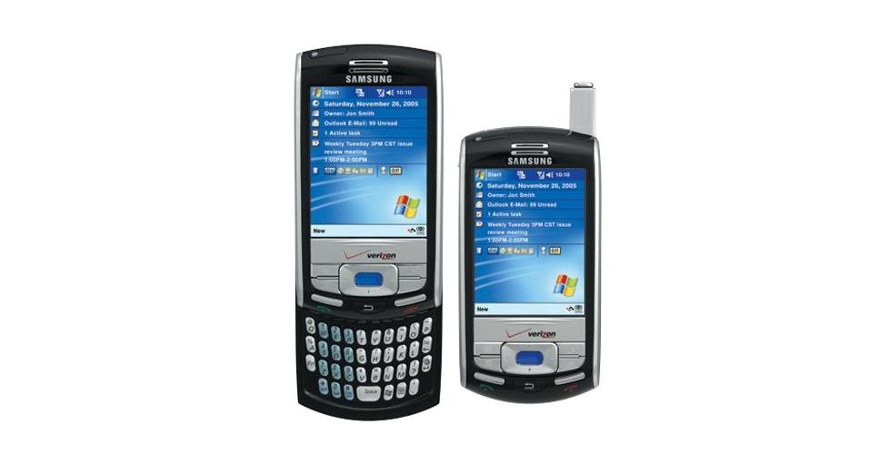 Samsung i730 foi apresentado em 2005 e tinha sistema Windows Mobile