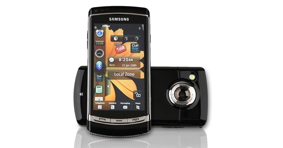 Samsung i8910 foi um dos primeiros a ter uma câmera que grava vídeos em alta definição (720p)