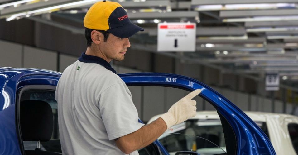 A fábrica de Sorocaba (SP) começa com 70 mil unidades/ano, mas pode expandir a produção para 100 mil carros se a procura pelo Etios for boa