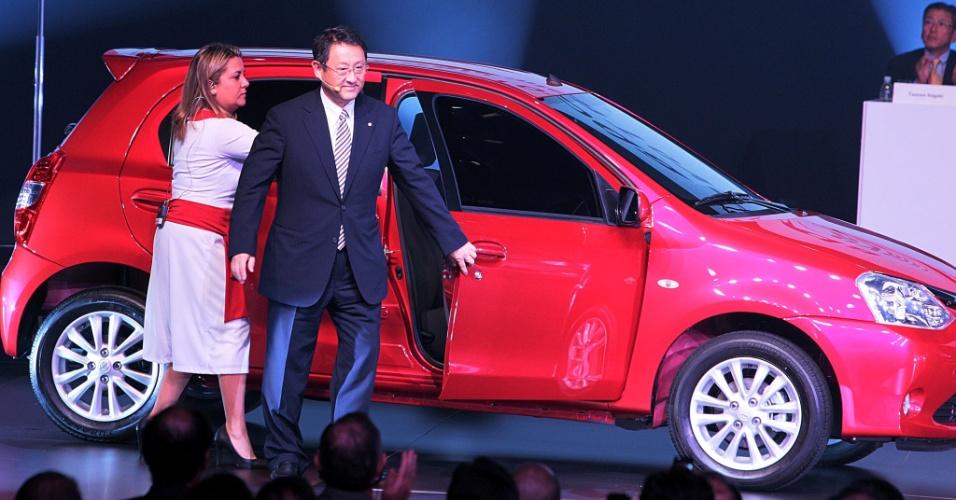 Akio Toyoda, presidente mundial da Toyota, esteve em Sorocaba (SP) para o laçamento do Etios e da fábrica de motores em Porto Feliz (SP)